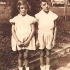 Kitty Gald with her brother Kurt, Znojmo, 1940s.