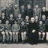 In the first class (5th grade) of the Jesuit school, 1947/45. Václav Wagner third from the left, middle row.