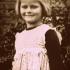 Hana Fousová, nee Reinvald, as a child