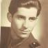 Josef Mišák during the military service, 1951