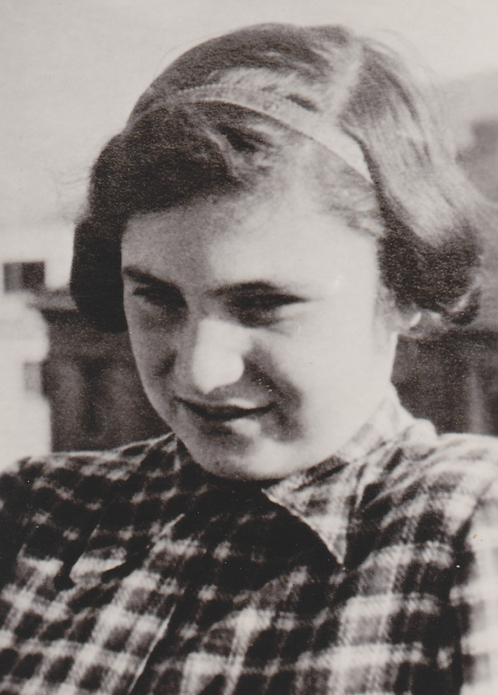 Twelve-year-old Gita before the transport to Terezín, 1941