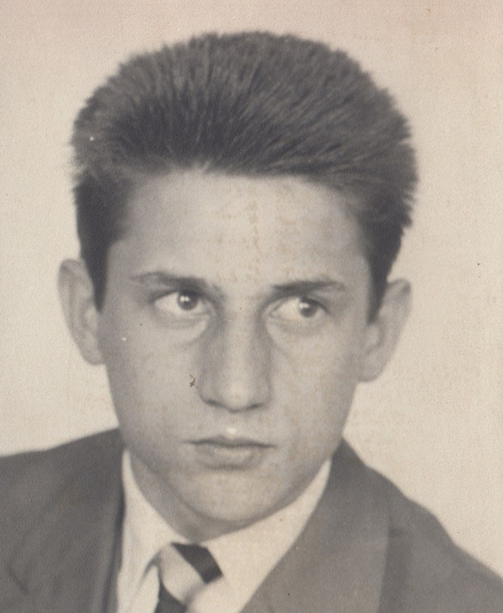 Graduation picture of Vaclav Andres, in 1961